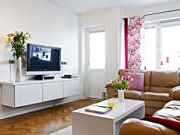 Contemporary and Elegant Apartment Design Inspiration living room