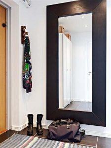 Contemporary and Elegant Apartment Design Inspiration mirror