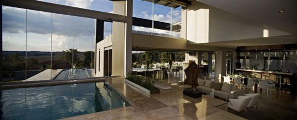 Contemporary and Elegant Home Design with indoor swimmingpool