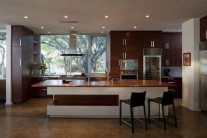 Contemporary and Elegant Lakeside Home Design by Dick Clark Architecture kitchen