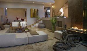 Contemporary and Elegant livingroom Design in South Africa