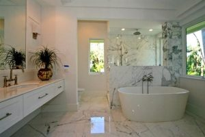 Contemporary and Luxury House Design in Miami Florida Bathroom with Bathtubs