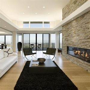 Contemporary and Modern Dream Home Design Fireplace