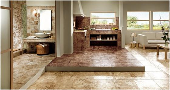 Contemporary and Unique Ceramic Floor and Wall Tiles Brown Log