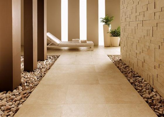 Contemporary and Unique Ceramic Floor and Wall Tiles Brown Yellow