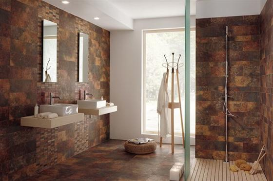 Contemporary and Unique Ceramic Floor and Wall Tiles Brown