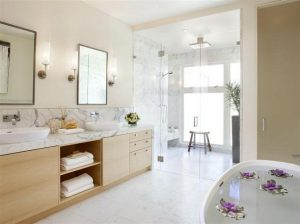 Contemporary and gorgeous bathroom design on Home in California x