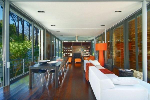 Contemporary livingroom Design on villa with Unique Concept in South Africa