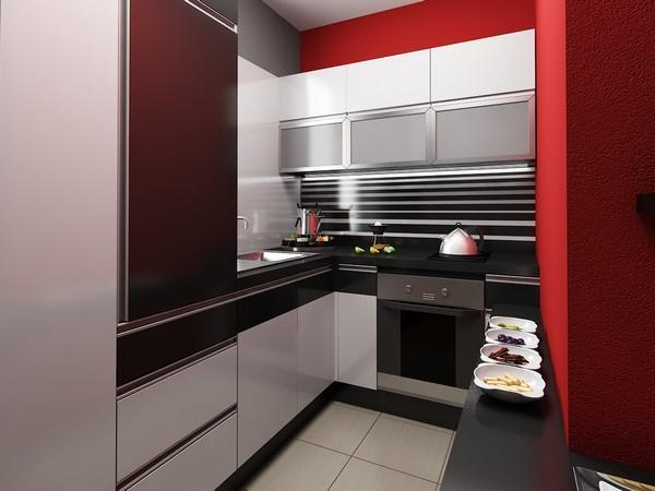 Contemporary small kitchen Apartment Design by Neopolis