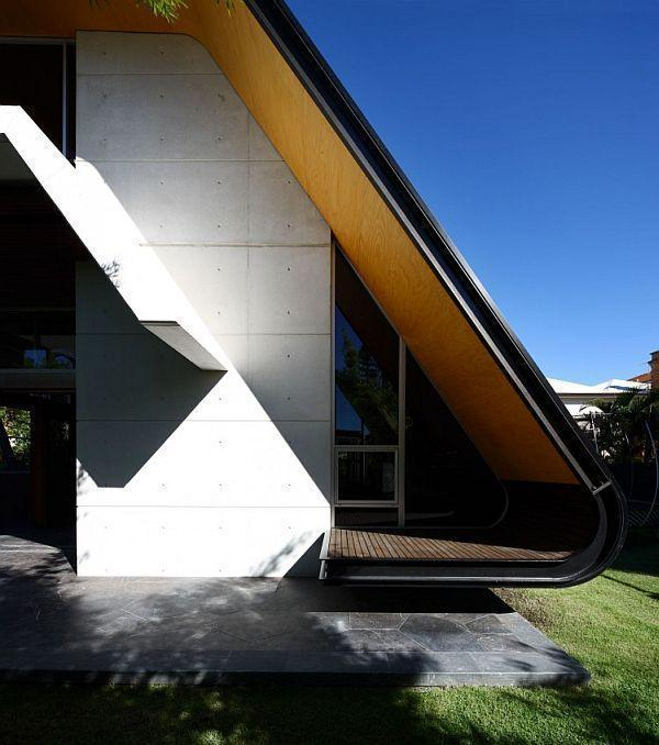 Cool and Modern Home Design with unususal rofftop ideas by Arkhefield