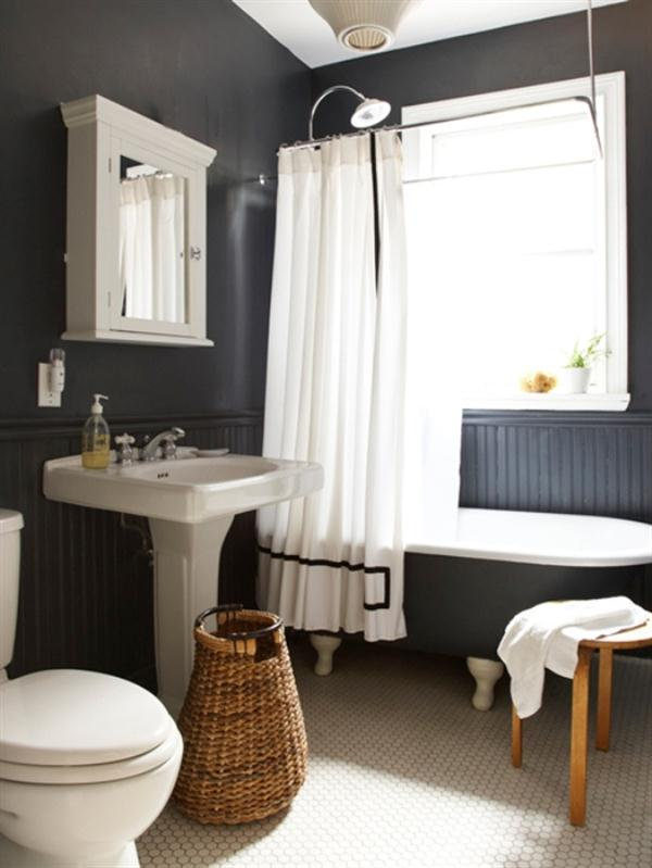 Cool and calm black bathroom design on awesome Residence in Toronto