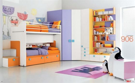 Colorful and Cheerful Modern Kids Bedroom Decorating Ideas