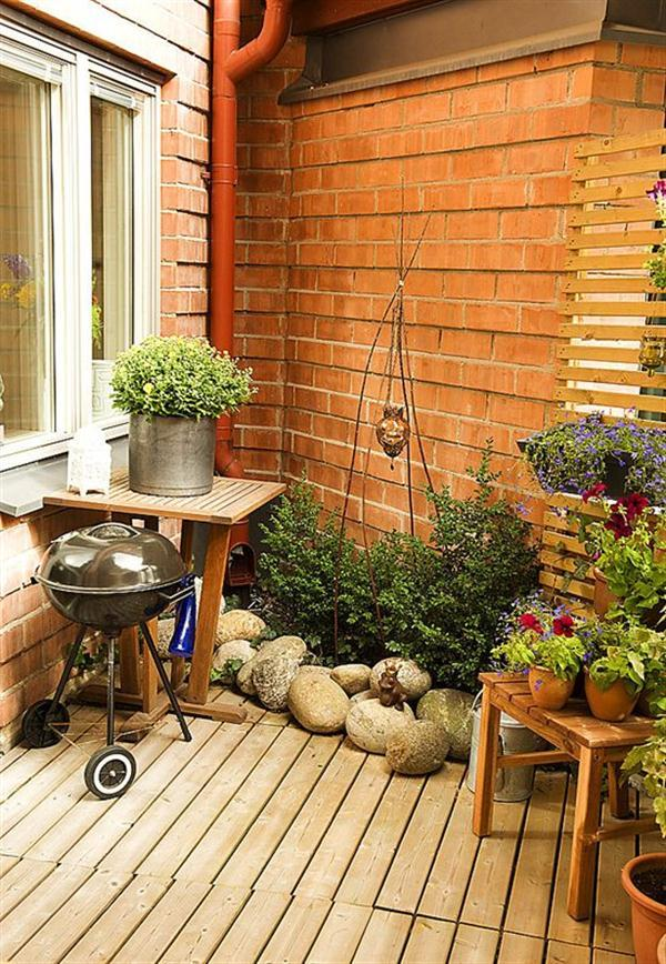 Creative Sweden Apartment Design Inspiration with mini garden
