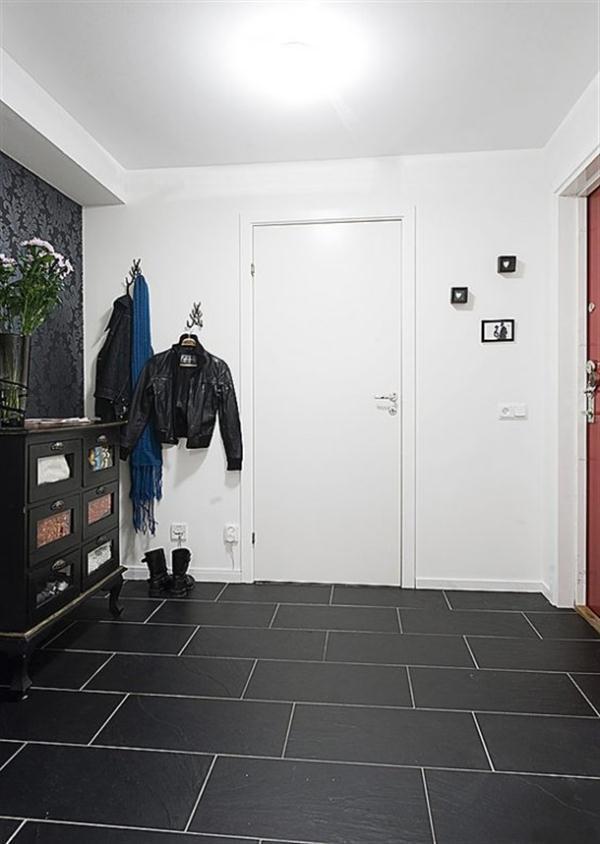 Creative Sweden Apartment Interior Design with black floor