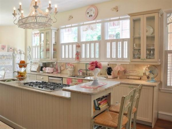 Cute Kitchen Design Inspiration with retro and sweet concept