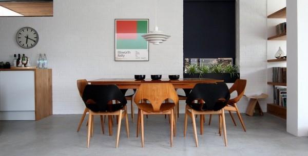Delightful Scandinavian dinning room Design by Linea Studio in England