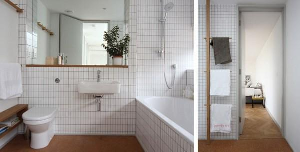 Delightful bathroom on Scandinavian Home Design by Linea Studio in England