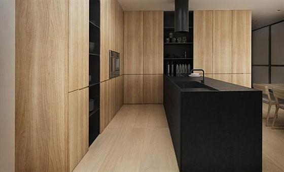 Detail kitchen Black and White Interior Design