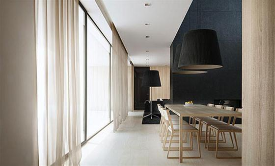 Dining room Black and White Interior Design