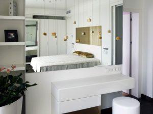 Elegant master bedroom Contemporary Apartment with Two Level Interior Design