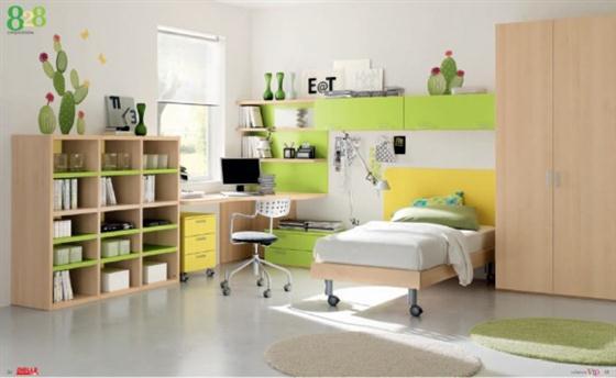 Go green Kids Bedroom Decorating Ideas