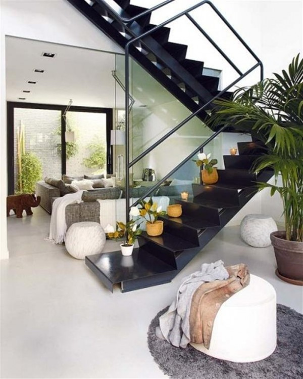Home Interior Design ideas by MiCasa with plants arround the stairs x