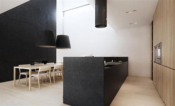 Kitchen Black and White Interior Design
