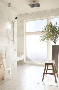 Luxurious bathroom Design with all white concept x