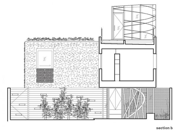 Modern Home by Bricault Design in Venice California side view siteplan