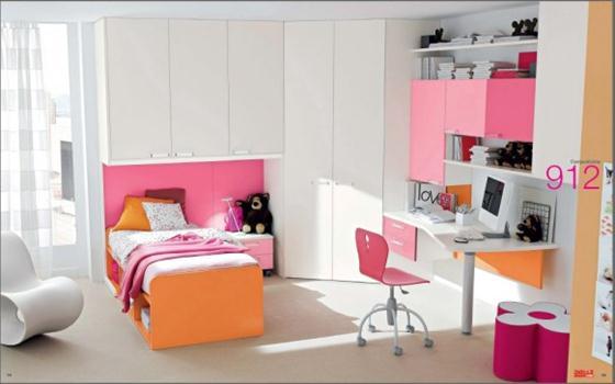 Pink and orange Kids Bedroom Decorating Ideas