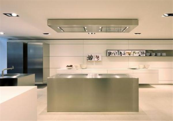 Silver and Stylish Kitchen Design by Bulthaup