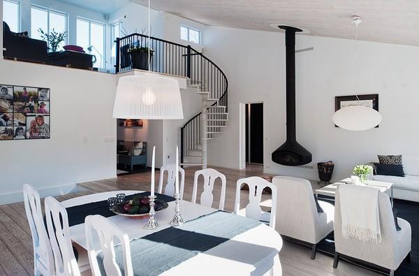 Simply White House interior Design ideas in Sweden