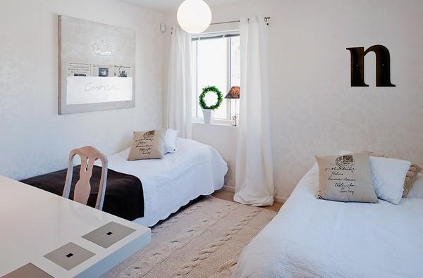 Simply and wonderful White bedroom Design in Sweden