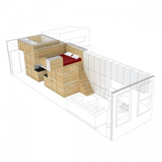 Sketch of Awesome Space Maximization square feet Small Studio Apartment x