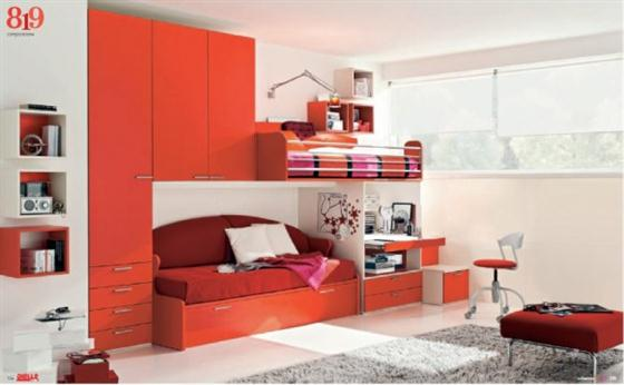 Sophisiticated red Kids Bedroom Decorating Ideas