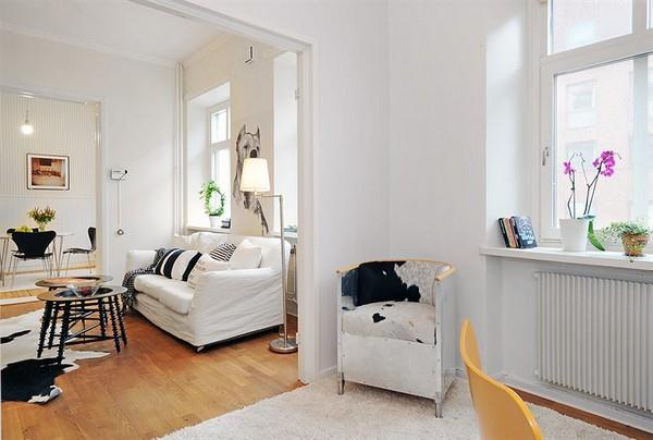 Swedish Apartment Design Inspiration with bright concept