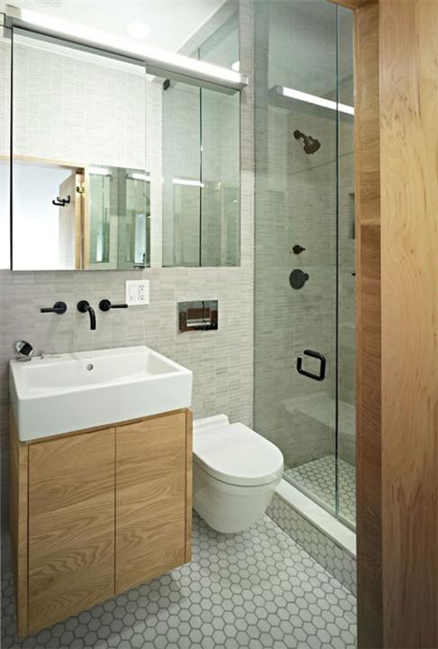 Toilet at Awesome Space Maximization square feet Small Studio Apartment