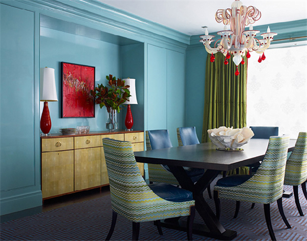 Beautiful Decoration Ideas : Red and Turquoise Room Aplliance