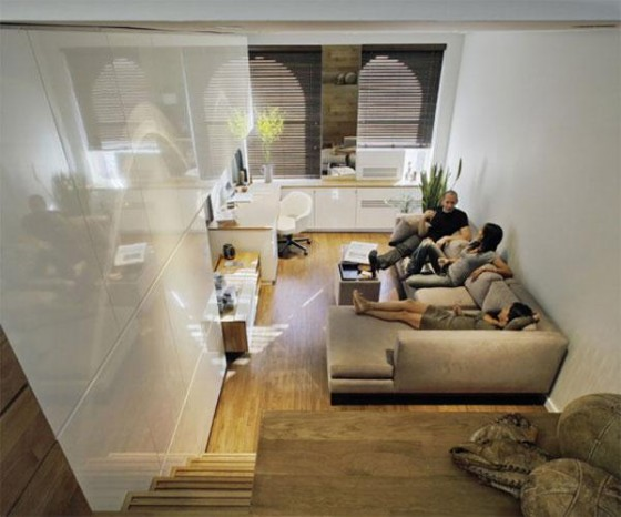 Tv room Awesome Space Maximization square feet Small Studio Apartment x
