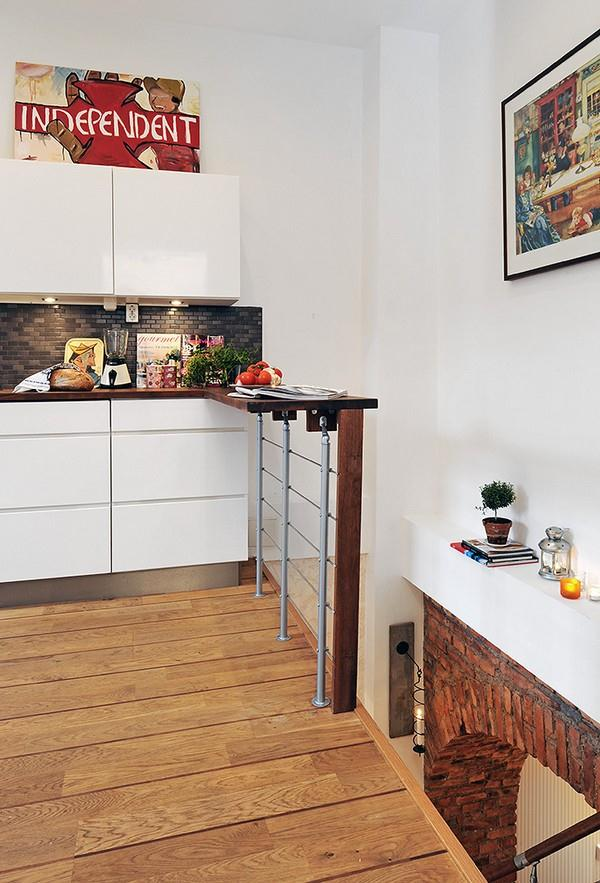 Unique Swedish Apartment Design Inspiration with wooden floor