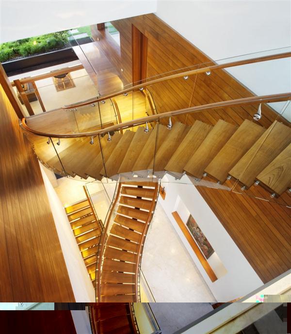 Unusual stairs interior Design by Guz Architects