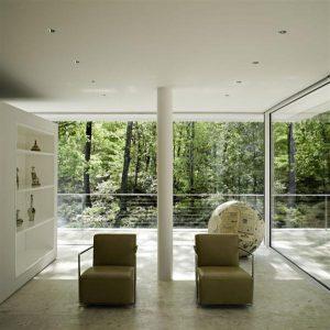 White Villa Design with simpleand unique concept