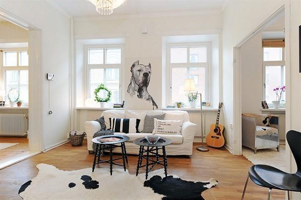 Wonderful livingroom Design with dog inspiration