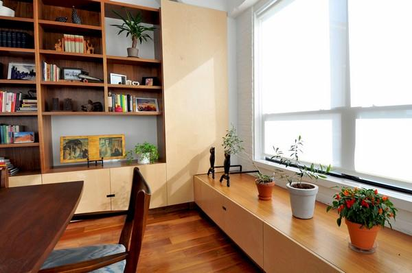 Wooden Apartment Design ideas with bright natural sunlight