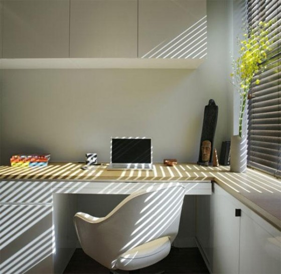 Work desk at Awesome Space Maximization square feet Small Studio Apartment x