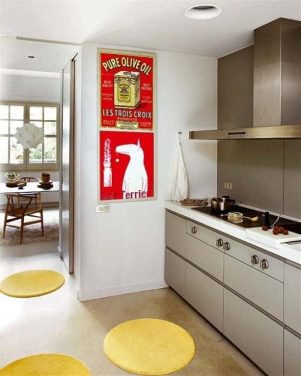 beautiful kitchen Design by MiCasa with funny pancake rugs x
