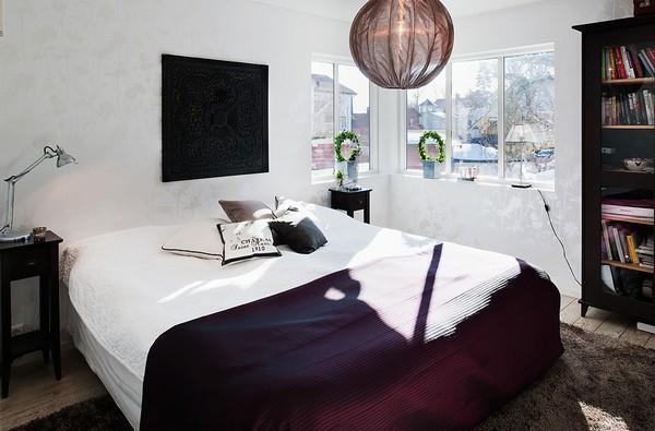bedroom Design ideas on cute and wonderful home in Sweden
