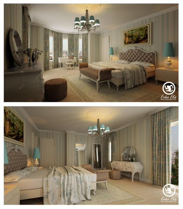 classical and luxurious Bedroom Design Inspiration by Erden Ekin