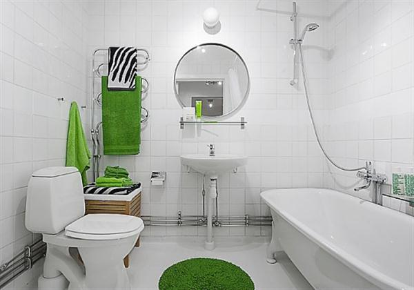 clean and green Sweden Apartment Interior Design Inspiration