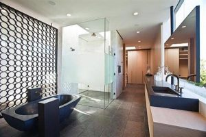 contemporary bathroom Design by Assemledge on home with the Idea of aE‹aE‹Bricks Around the House